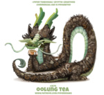 Фото Чайный дракон на белом фоне (Oolung Tea), by Cryptid-Creations