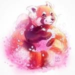 Фото Панда с весенними цветами, by PuffyGator