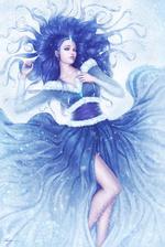 Фото Девушка с синими волосами в синем платье, by Zarory