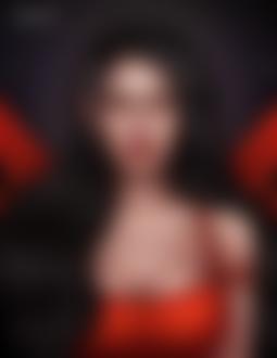 Фото Темноволосая эльфийка с алыми глазами, by luukassl