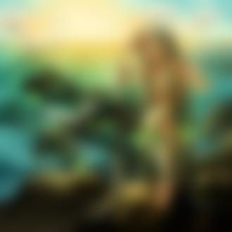 Фото Девушка - русалка с длинными волосами стоит на камне, by Adventure-of-Moc