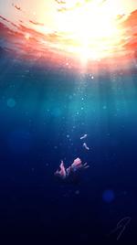 Фото Девушка погружается под воду, by Nengoro
