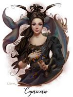 Фото Capricorn - Zodiac Sign / Козерог - Знак Зодиака, девушка с бабочками, by DelarasArt