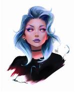 Фото Девушка с голубыми волосами, by rossdraws