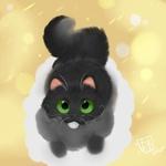 Фото Зеленоглазый черный кот, by EmberBlight