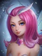 Фото Девушка-мотылек с розовыми волосами, by YellowLemonCat