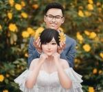 Фото Девушка и парень в свадебной одежде на размытом фоне, by YellowLemonCat
