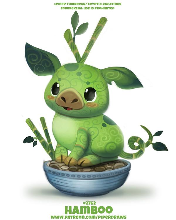 Фото Зеленая свинка в чашке (Hamboo), by Cryptid-Creations