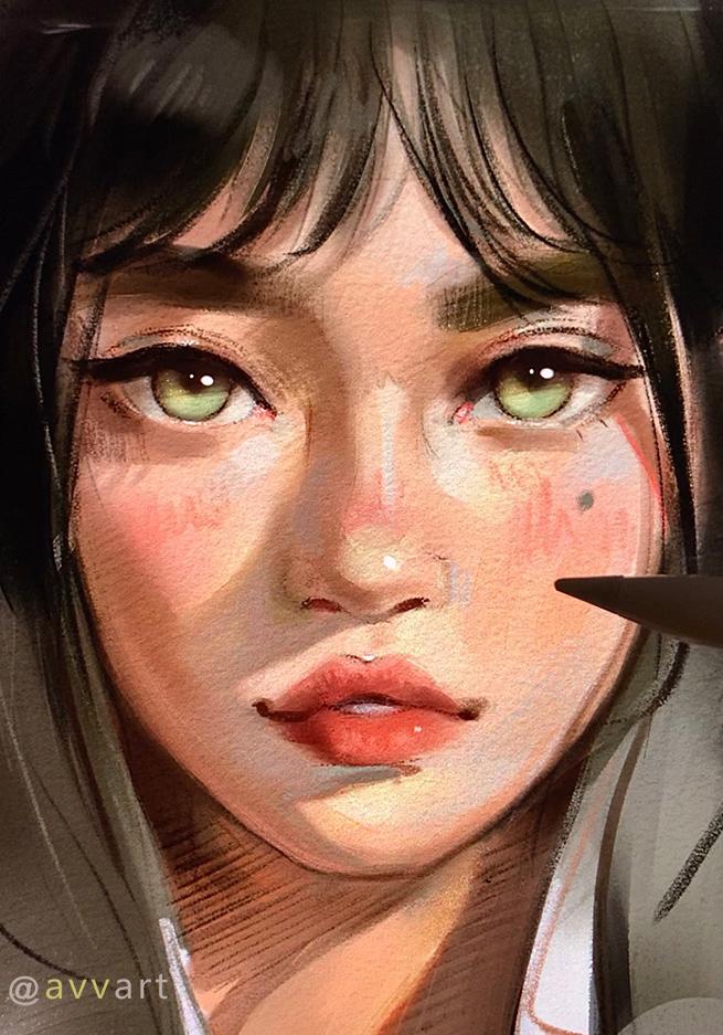 Фото Портрет зеленоглазой девушки, by avvart