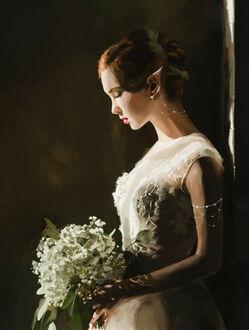Фото Девушка - эльфийка со свадебным букетом в руках, by ZenNBy (© lRB02), добавлено: 10.09.2021 22:22