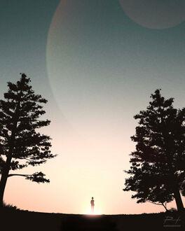 Фото Парень любуется закатом, by ReedDrawsOnDA (© chucha), добавлено: 11.09.2021 08:13