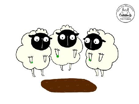 Анимация Три овечки посадили цветы