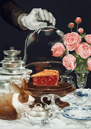 Анимация Различные блюда на столе, работа художницы Sparrows (© Krista Zarubin), добавлено: 22.02.2015 13:35