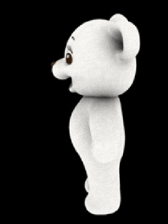 Анимация Очень быстро вращающийся игрушечный мишка