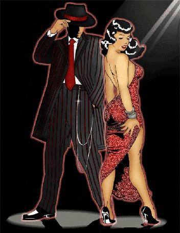 Анимация Мужчина и женщина танцуют танго (© Akela), добавлено: 26.03.2015 17:05