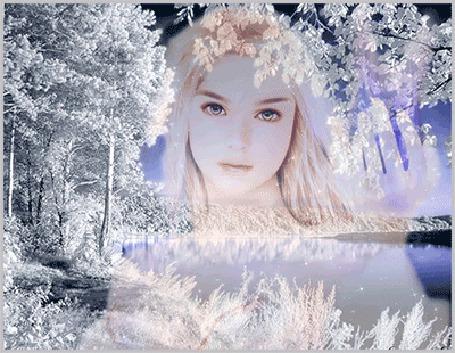 Анимация Девушка на фоне зимы (© elenaiks), добавлено: 28.03.2015 06:14
