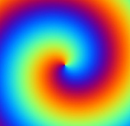 Анимация Оптическая иллюзия воронки