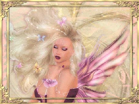 Анимация Девушка эльф с розовыми крыльями (© elenaiks), добавлено: 30.03.2015 10:40