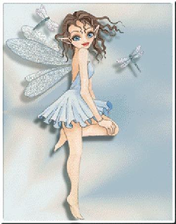 Анимация Девочка эльф с крыльями стрекозы (© elenaiks), добавлено: 31.03.2015 09:32