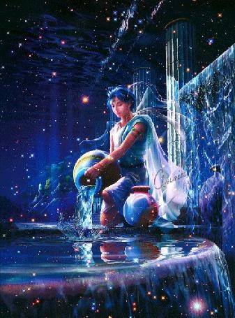 Анимация Юноша - Водолей льет воду из вазы в басейн (© Bezchyfstv), добавлено: 03.03.2015 00:17