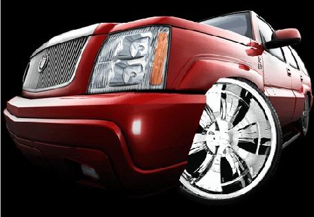Анимация В автомобиле крутится колесо (© zmeiy), добавлено: 03.03.2015 08:42