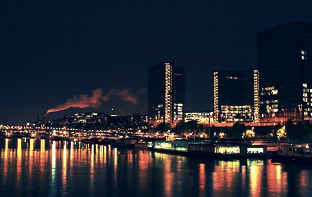 Анимация Ночной город у реки (© Seona), добавлено: 03.03.2015 12:47