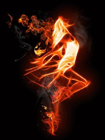 Анимация Девушка в огне (© zmeiy), добавлено: 05.03.2015 22:59
