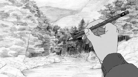 Анимация Рука с карандашом рисует деревья (© zmeiy), добавлено: 06.03.2015 09:51