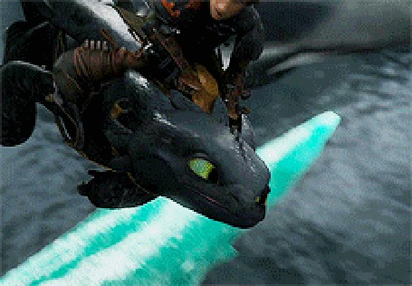 Анимация Иккинг летит на драконе Беззубике, мультфильм Как приручить дракона / How to Train Your Dragon (© Anatol), добавлено: 08.03.2015 23:57