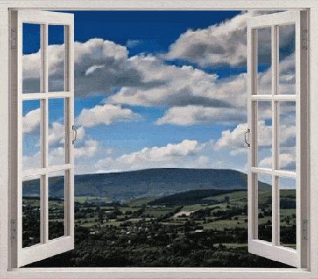 Анимация За окном плывут облака (© zmeiy), добавлено: 10.03.2015 01:08