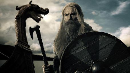 Анимация Викинг на драккаре в полном вооружение в морском походе (© Anatol), добавлено: 10.03.2015 20:18