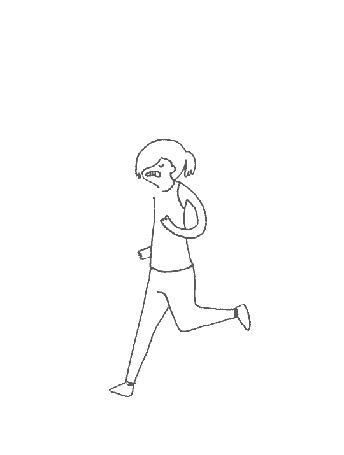 Анимация Девочка и бегущие коты (© zmeiy), добавлено: 12.03.2015 10:36