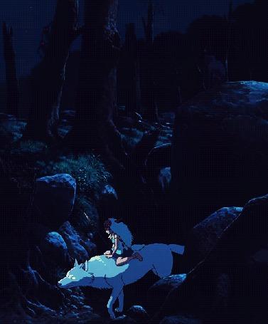 Анимация Волк с наездником на нем идут по оврагу (© zmeiy), добавлено: 12.03.2015 10:40