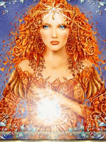 Анимация Девушка с магией в руках (© zmeiy), добавлено: 12.03.2015 16:41