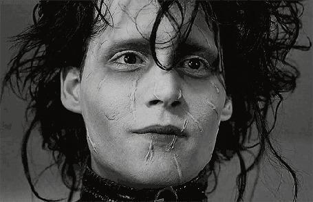 Анимация Джонни Депп / Johnny Depp в фильме Эдвард руки-ножницы / Edward Scissorhands, 1990