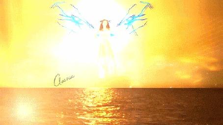 Анимация Девушка парит над водой (кадр из клипа Энигма - Конец света) (© Bezchyfstv), добавлено: 15.03.2015 12:10