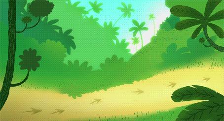 Анимация Белая обезьяна спускается на веточке, падает и уходит (© Tiana), добавлено: 16.03.2015 16:42