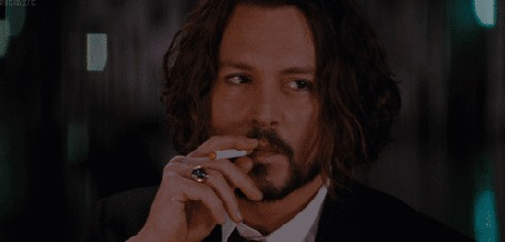 Анимация Джонни Депп / Johnny Depp нервно курит, фильм Турист / The Tourist, 2010 (© Anatol), добавлено: 16.03.2015 17:35