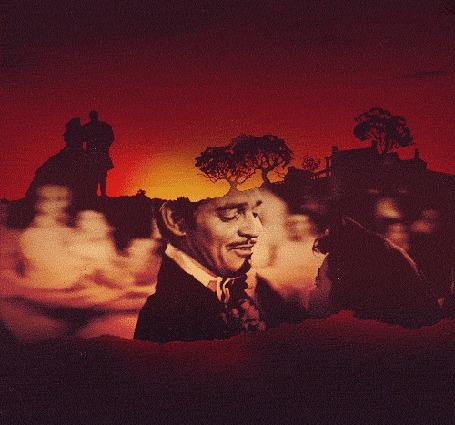 Анимация Ретт Батлер / Rhett Butler в исполнении Кларка Гейбла / Clark Gable и Скарлет ОХара / Scarlett OHara в исполнении Вивьен Ли / Vivien Leigh, кадры из фильма Унесенные ветром / Gone with the Wind (© BlackAssol), добавлено: 17.03.2015 10:37