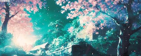 Анимация Весеннее цветение деревьев (© zmeiy), добавлено: 18.03.2015 13:08