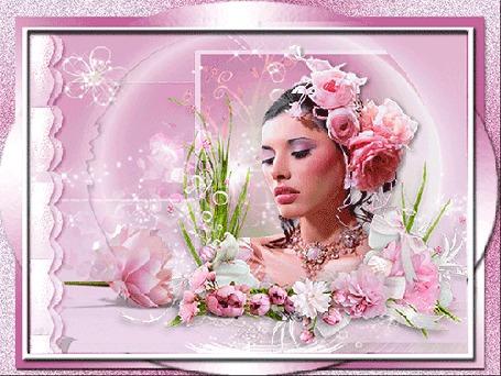 Анимация Девушка с веночком из роз (© elenaiks), добавлено: 19.03.2015 14:31