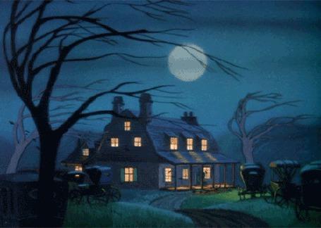 Анимация Ночь, дом, ветер качает деревья (© Solist), добавлено: 19.03.2015 15:51