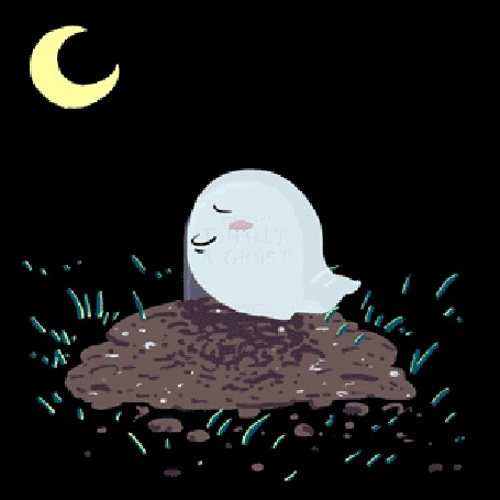 Анимация Привидение летает ночью вокруг могилы (© Solist), добавлено: 19.03.2015 15:55