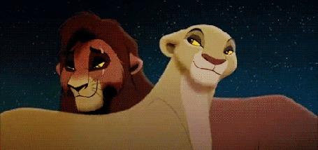 Анимация Ково и Кияра герои из мультфильма Король лев / Lion King