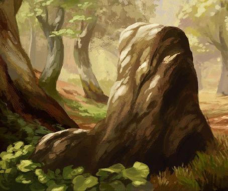 Анимация Девочка с ушками и хвостом скачет на камне, by GreyAnnis