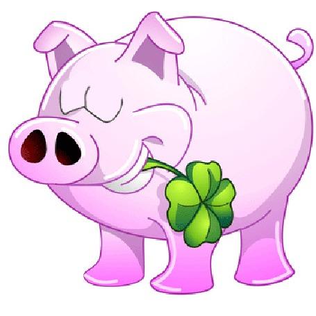 Анимация Розовая свинья с зеленым листом во рту (© Akela), добавлено: 21.03.2015 20:27