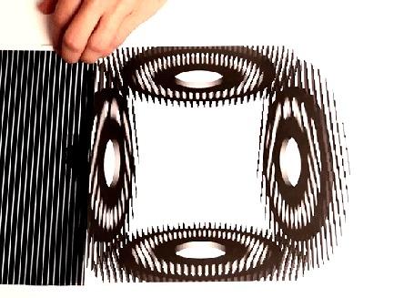 Анимация Оптическая оригинальная иллюзия
