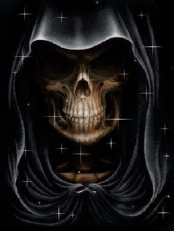 Анимация Смерть в черном балахоне (© elenaiks), добавлено: 24.03.2015 07:57