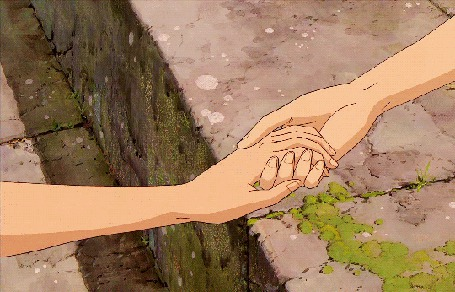Анимация Руки тянутся друг к другу