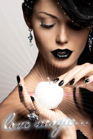 Анимация Девушка держит магию, love magic (магия любви) (© zmeiy), добавлено: 24.03.2015 21:53